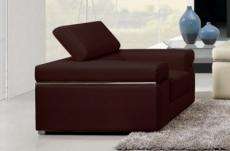 fauteuil 1 place en cuir italien alonso, chocolat