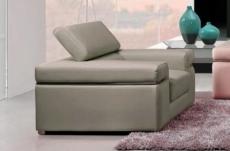 fauteuil 1 place en cuir italien alonso, gris clair