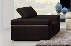 fauteuil 1 place en cuir italien alonso, noir