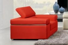 fauteuil 1 place en cuir italien alonso, rouge