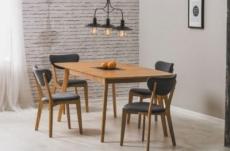 table à manger extensible 120 à 150 cm, de style scandinave