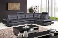 canapé d'angle, qualité luxe 6/7 places bellastar, noir, angle droit