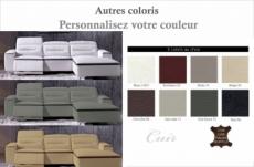 canapé d'angle relax en cuir de buffle italien de luxe funrelax , couleurs personnalisées, angle droit