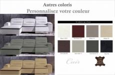 canapé d'angle relax en cuir buffle italien de luxe funrelax, couleurs perrsonnalisées, angle gauche.