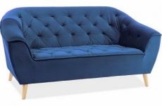 canapé gallery 2 places en tissu de qualité, couleur bleu