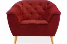 fauteuil 1 place gallery en tissu de qualité, couleur bordeaux