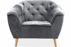 fauteuil 1 place gallery en tissu de qualité, couleur gris
