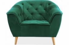 fauteuil 1 place gallery en tissu de qualité, couleur vert
