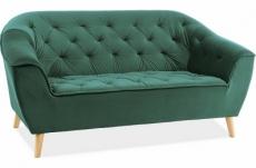 canapé gallery 2 places en tissu de qualité, couleur vert