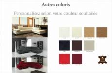 canapé d'angle en tout cuir prestige luxe italien 5/6 places grand george, couleur personnalisée, angle droit