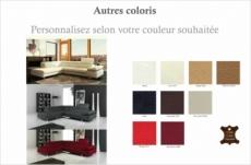 canapé d'angle en tout cuir prestige luxe italien 5/6 places grand george, couleur personnalisée, angle gauche