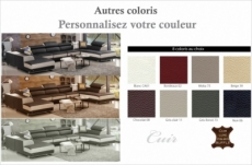 canapé d'angle en cuir buffle italien de luxe 8/9 places giant, couleur personnalisée