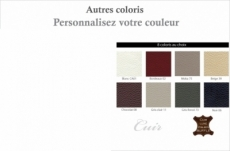 canapé 2 places en cuir italien buffle grimaldi, couleur personnalisée
