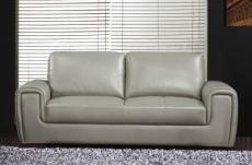 canapé 2 places en cuir italien buffle grimaldi, gris clair