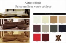 canapé d'angle, en cuir italien 5/6 places guci, couleur personnalisée, angle droit