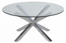 table basse design en verre et métal, holida