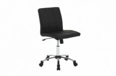 chaise de bureau confortable en simili cuir de qualité houten, noir