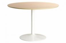 table à manger ronde iberi, plateau chêne sauvage