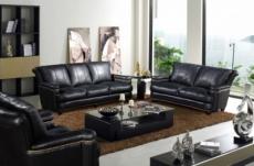 ensemble imperial, 3 pièces: canapé 3 places + 2 places + fauteuil 1 place en cuir italien vachette. tout cuir supérieur intégral