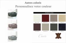 fauteuil 1 place en cuir italien buffle italina, couleurs personnalisées avec surpiqure