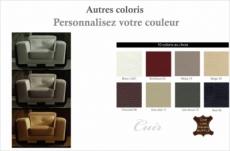 fauteuil 1 place en cuir italien buffle jason, couleur personnalisée