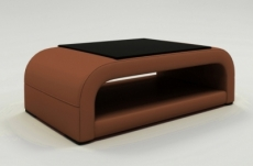 table basse design jersey, marron