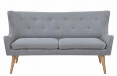 canapé 3 places en tissu de qualité kastel, gris
