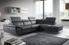 2eme paiement de la commande: canapé d'angle relax en 100% tout cuir épais de luxe italien avec relax électrique, 5/6 places kaster, anthracite, angle droit, 6x sans frais, total de la commande: 2588 euros