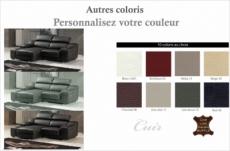 canapé d'angle en cuir buffle italien de luxe zendo,  couleur personnalisée , angle gauche