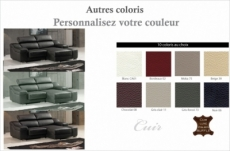 canapé d'angle en cuir buffle italien de luxe zendo, couleur personnalisée, angle droit