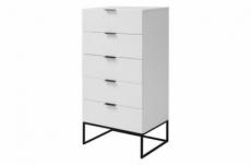 armoire kosi, 5 tiroirs, blanc
