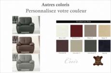 fauteuil 1place en cuir italien buffle leandro, couleur personnalisée
