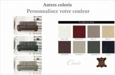 canapé 3 places en cuir italien buffle leandro, couleur personnalisée