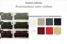 ensemble composé d'un canapé 3 places et d'un canapé 2 places.  leani, couleur personnalisée