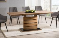 table à manger extensible léo finition chêne, 160 à 220 cm