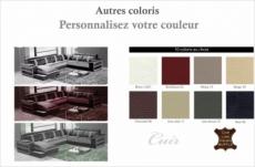 canapé d'angle cuir buffle italien 7/8 places , leonardo, couleur personnalisée, angle droit