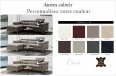 - canapé d'angle en cuir buffle italien de luxe 5 places lido, couleur personnalisée, angle gauche