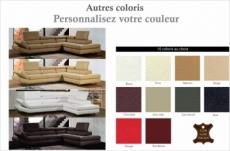 canapé d'angle en cuir italien 5/6 places lido, couleur personnalisée