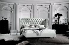 lit design de luxe princesse, avec sommier à lattes, blanc, 140x190