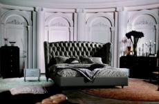lit design de luxe princesse, avec sommier à lattes, gris foncé 140x190