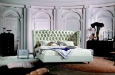 lit design de luxe princesse, avec sommier à lattes, écru 180x200