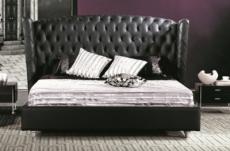 lit design de luxe princesse, avec sommier à lattes, noir, 180x200