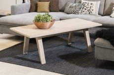 table basse contemporaine, en bois massif, cina