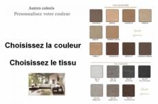 canapé d'angle loft en tissu haut de gamme, coloris personnalisées, angle droit