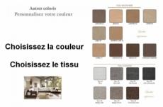 canapé d'angle loft en tissu haut de gamme, couleurs personnalisées, angle gauche