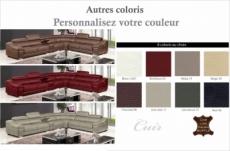 canapé d'angle en cuir buffle italien de luxe 7 places londres, couleur personnalisée, angle droit