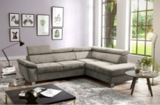 canapé d'angle en tissu luxe 5 places lugo beige, angle droit