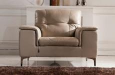 fauteuil 1 place en cuir italien buffle luigi, beige