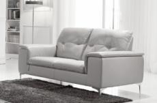 canapé 2 places en cuir italien buffle luigi, blanc