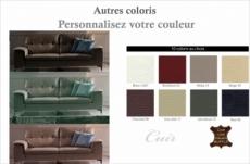canapé 3 places en cuir italien buffle luigi, couleur personnalisée